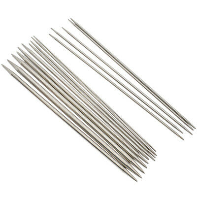 55pcs/set 20cm Double Pointed Straight Knitting Sewing Needles Stainless Steel