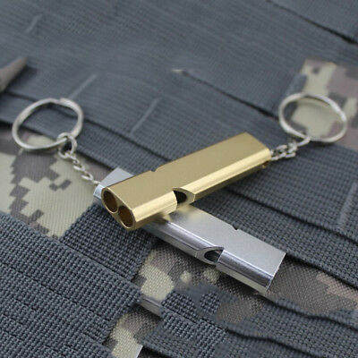 Keychain Outdoor Survival Whistle Double Pipe High Decibel Emergency Whistle#K