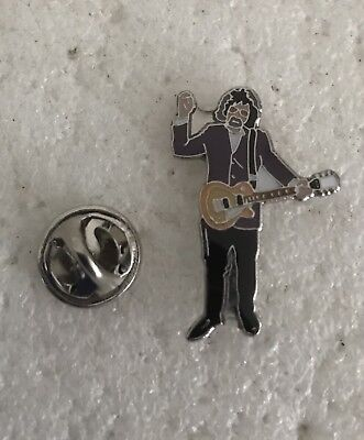Rare Jeff Lynne Character  Enamel Badge Electric Light Orchestra ELO Birmingham