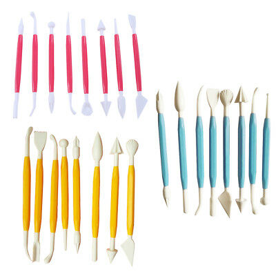 Kids Clay Sculpture Tools Fimo Polymer Clay Tool 8 Piece Set Gift for Kids#K
