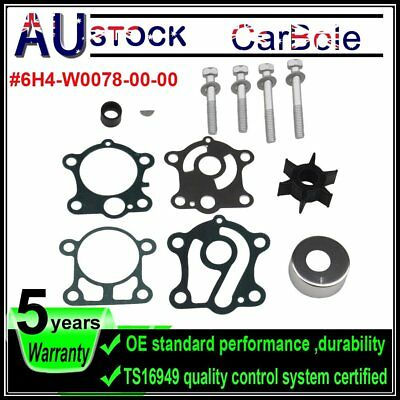 Water Pump Impeller Kit Fits Yamaha 40 50 HP P50 18-3429 Replace 6H4-W0078-00-00