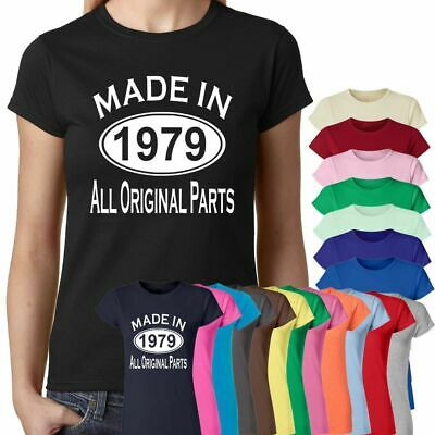 6c8e0c9d3 Made In 1979 All Original Parts 40Th Birthday Gift Present Womens T Shirts