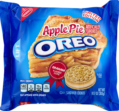 New Nabisco Limited Edition Apple Pie Oreo Flavored Sandwich Cookies 10.7 Ozpack