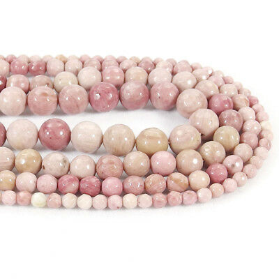 Natural Rhodonite Jasper Stone Faceted Spacer Beads 15.5'' 4mm 6mm 8mm 10mm