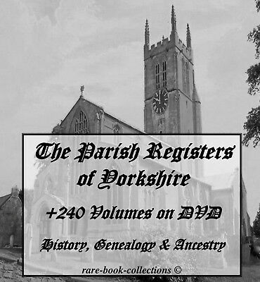 Yorkshire - History Ancestry & Genealogy +240 Parish Registers Dvd - Family Tree