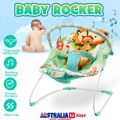 Portable Baby Infant Rocker Bouncer Newborn Toddler Swing Vibration W/ Toy Music