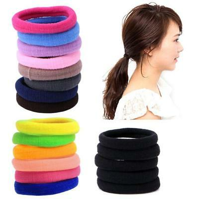 50Pcs Kids Girl Lady Elastic Rubber Hair Bands Ponytail Holder  Rope Ties  BG