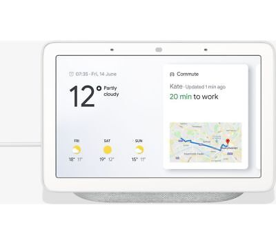 GOOGLE Home Hub with Google Assistant - Chalk - Brand New & Sealed