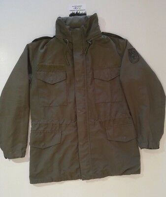 Genuine Austrian Army Field Parka M65 Jacket With Coat Of Arms - Size Iii - Iv