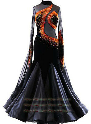 B4963 Elegant Women swing tango waltz Smooth dance competition dress uk 6