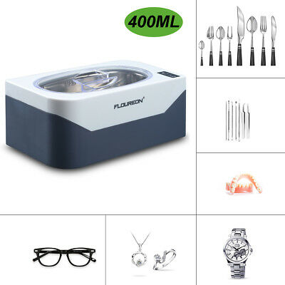400ml Professional Waterproof Ultrasonic Cleaner For Glasses Watches Rings Coins