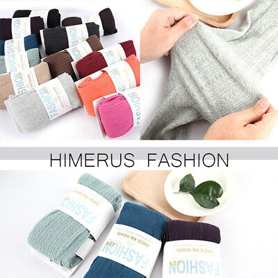 Women Winter Warm Cable Knit Sweater Footed Tights Stretch Stockings Pantyhose