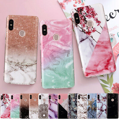 For Xiaomi Redmi Note 5 6 Pro S2 5A Mi A2 Marble Pattern Soft Rubber Case Cover