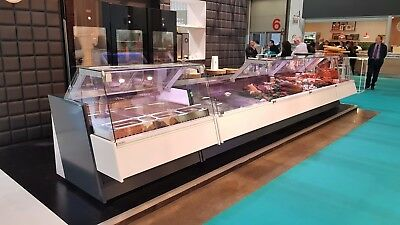 2.5M Serve Over Counter Meat Display Brand New White/Black Deli Counter Fridge
