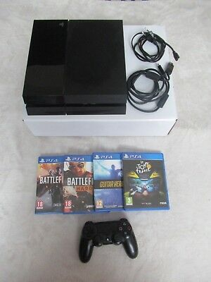 Console Sony Playstation 4 ps4 Complet + 4 jeux (PAL)