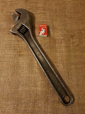 "Vintage Dowidat Made In Germany 91-18"" Shifter Adjustable Wrench Working Cond."