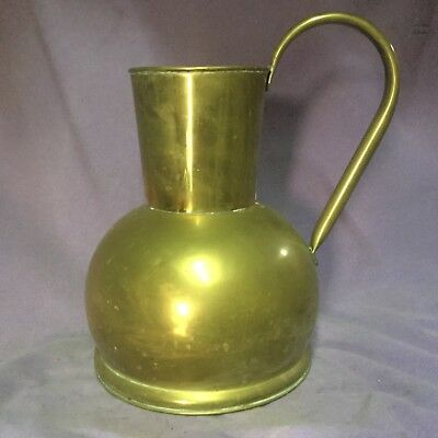vintage Brass Jug. Vase. Garden Watering Can. Beautiful Quality
