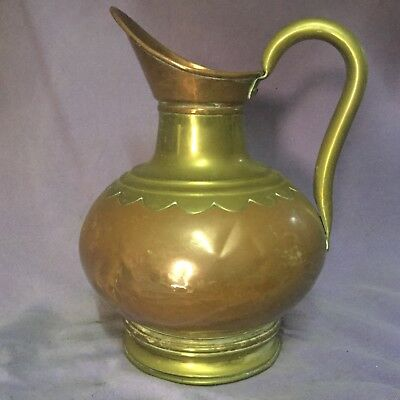 vintage Copper & Brass Jug. Vase. Garden Watering Can. Beautiful Quality