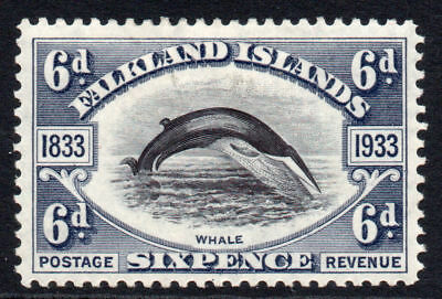 Falkland Islands 6d Centenary Stamp c1933 Mounted Mint (1458)