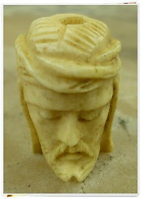 French Antique XIX Hand carved  Memento Mori for rosary Curiosa 1850