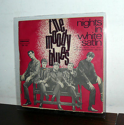 """Nights In  White Satin-The Moody Blues 7"""" Italy '68 (Ho Difeso Il Mio Amore)"""