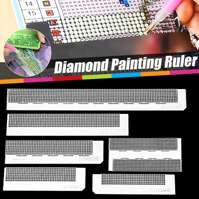 5D Diamond Painting Stainless Steel Ruler Blank Grids Round Full Drill Kit Tool