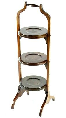 Antique Mahogany & Beech Folding Cake Stand - FREE Shipping [PL4817]