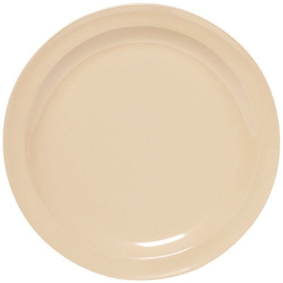 "Yanco NS-109T Nessico Round Dinner Plate, 9"" Diameter, Melamine, Tan Color, Pack"