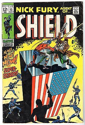 Nick Fury, Agent of SHIELD #13, Very Good Condition