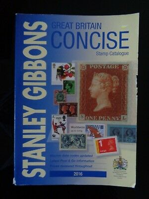 Stanley Gibbons 2016 Great Britain Concise Stamp Catalogue Used Condition