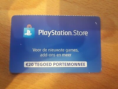 Sony PlayStation Store 20 Euro Card (NL)