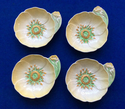 Set of 4 Carlton Ware 1395 'Buttercup' pattern jam / butter dishes, 1936