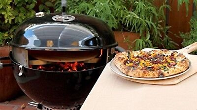 Kettle Grill Pizza Oven Stone Kit Weber BBQ Wood Charcoal Fired Cooker S