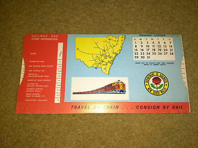 New South Wales Department Of Railways Permanent Calender