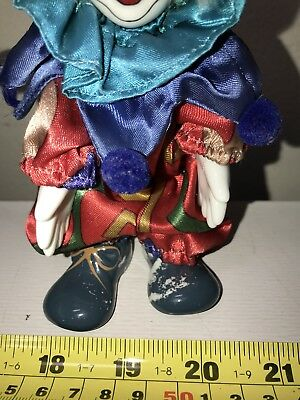 ooak Ceramic Clown Doll, Very Nicely Detailed