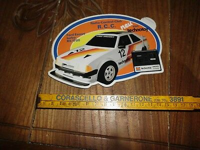 Nikko Radio Control Ford Escort Turbo Rs 1700 Rally Adesivo Sticker Aufkleber
