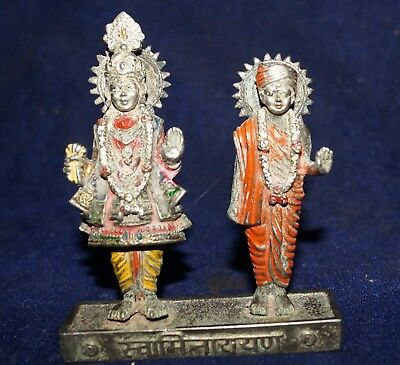 Antique Brass Or Bronze Krishna And Radha Statue Figure Size 4 Inch