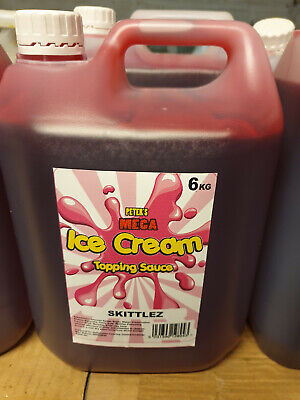 1 X 6Kg Skittles Topping Syrup - Ice Cream Van Sauce Mr Whippy -New Sealed