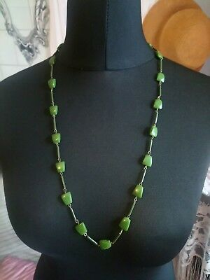 Vintage Art Deco Unusual Early Plastic Celluloid  Bakelite Beads Necklace