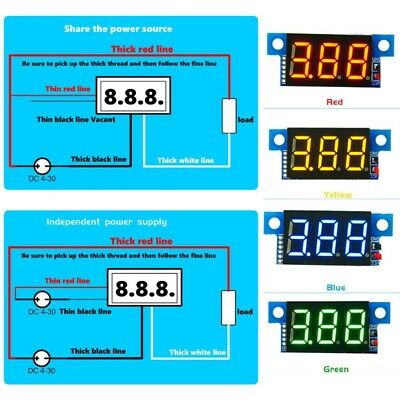 DC0-10A Digital LED Ammeter Current Panel Meter 0.36in Module Reverse protection