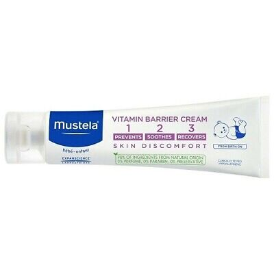 New Mustela 1 2 3 Vitamin Barrier Cream 100mL Prevents Soothes Recovers