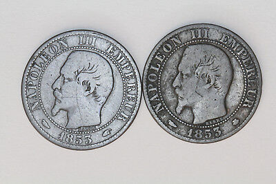 France - 5 centimes 1853 A - 1853 BB (#3)