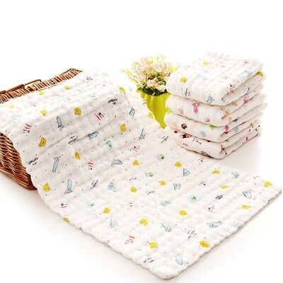 Baby Washcloth Reusable Baby Wipes Breathable Cotton Baby Face Towel Colorful