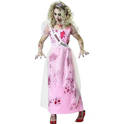 NEW BLOODY PROM DRESS CARRY scary ZOMBIE Halloween COSTUME Junior Women 7-9