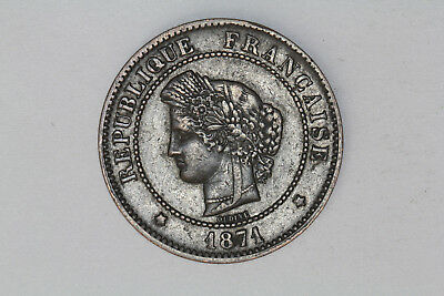 France - 5 centimes 1871 A (#22)