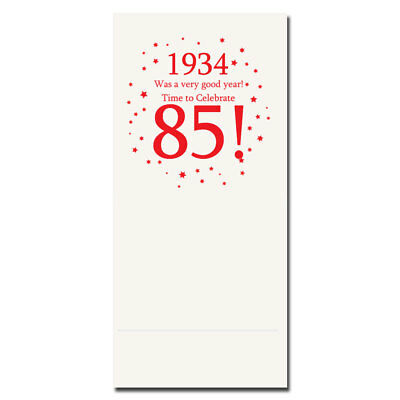 Happy 85th Birthday Age 85 1934 Party Supplies BANQUET DINNER NAPKINS