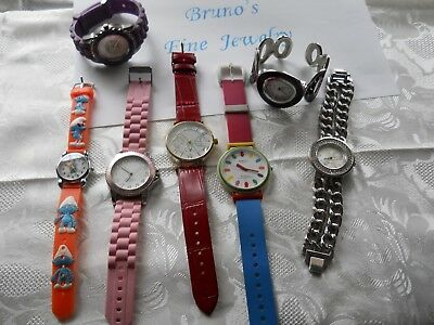 Lot of 7 Vintage Collectible Novelty Women / Kids WATCHES