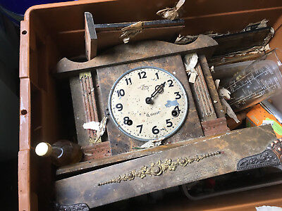 Antique Clock in need of complete restoration CASH ON COLLECTION