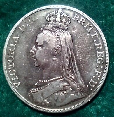 Great Britain Crown Coin, 1891Jubilee Head, Vg-F  Condition, A Great Investment