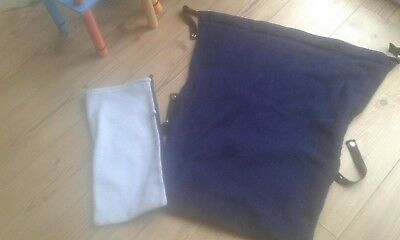 Stay Put footmuff/snuggle blanket Navy/Light Blue Buggy Pushchair